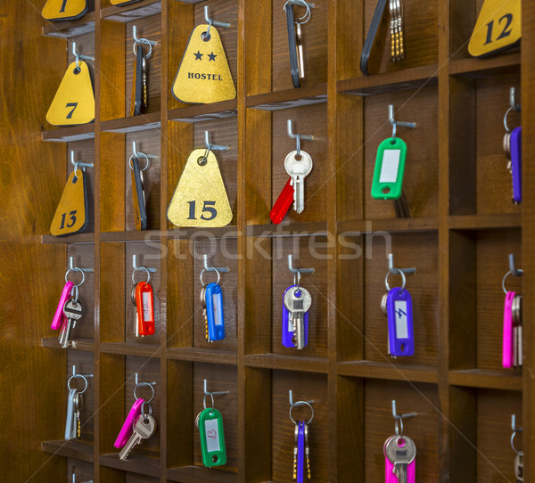 Herberg kamer sleutels kamers twee sterren Stockfoto © RazvanPhotography