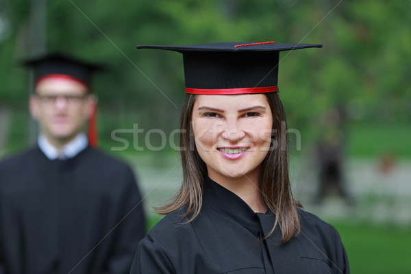 Portrait of a Young Woman in the Graduation Day Stock photo © RazvanPhotography