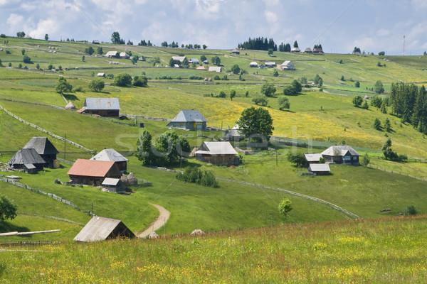 Romanian Mountain Village Stock photo © RazvanPhotography