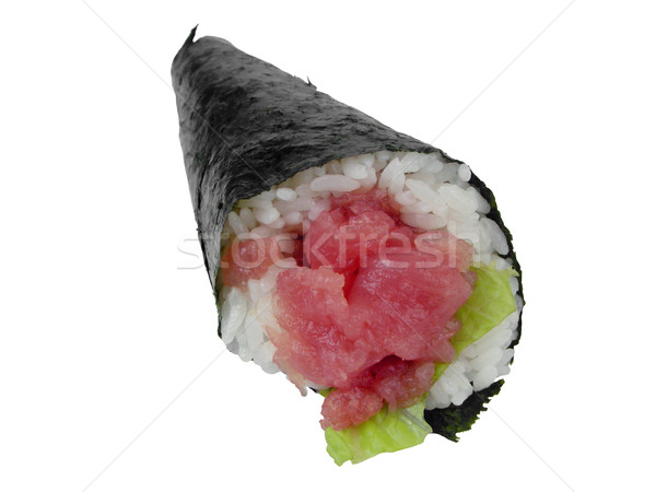 Dallam szusi tonhal kéz zsemle étterem Stock fotó © RazvanPhotography