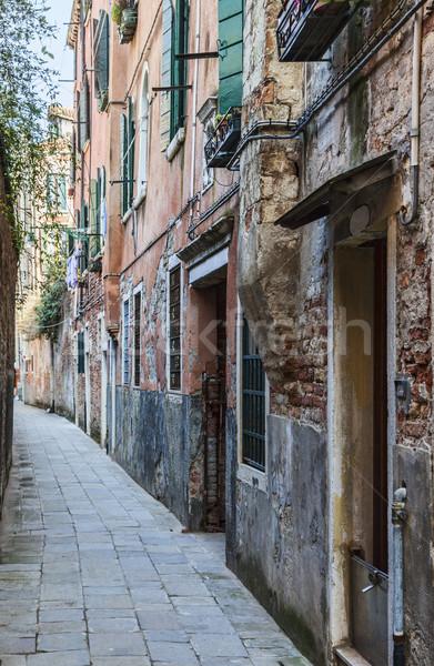 Narrow Venetian Street  Stock photo © RazvanPhotography