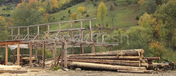 Timber production place Stock photo © RazvanPhotography