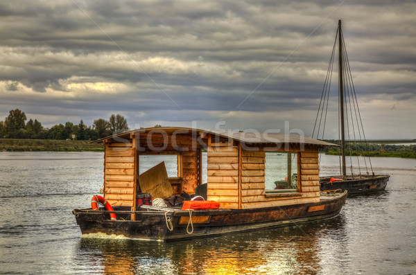 Wooden Boats on Loire Valley Stock photo © RazvanPhotography