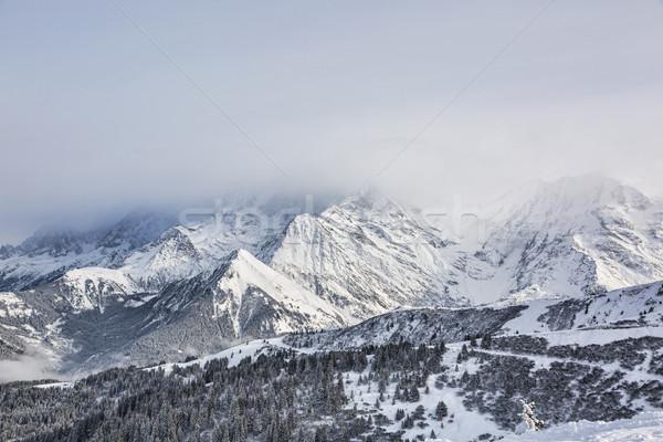 Kötü hava dağlar ağır bulutlar üst arkasında Stok fotoğraf © RazvanPhotography