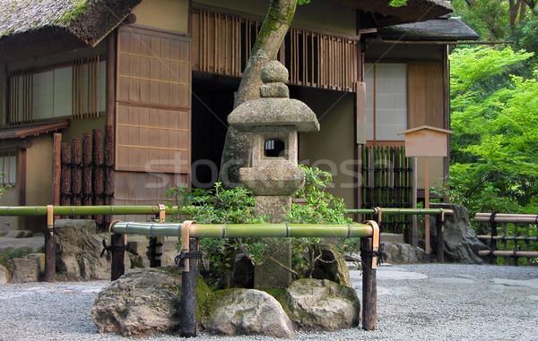 Сток-фото: Японский · чай · дома · традиционный · каменные · фонарь