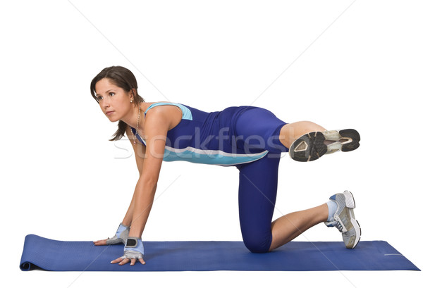 Woman doing aerobics Stock photo © RazvanPhotography
