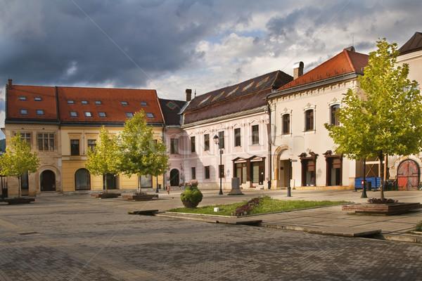 старый город квадратный впечатляющий небе двери Сток-фото © RazvanPhotography