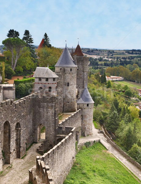 Carcassonne-the fortified town Stock photo © RazvanPhotography