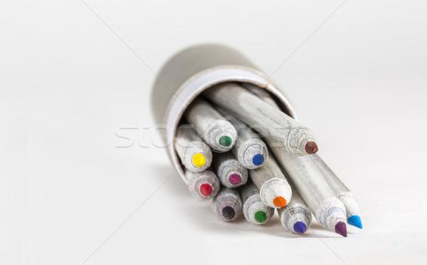 Box of Colored Pencils Stock photo © RazvanPhotography