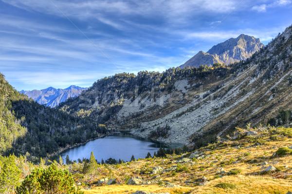 Ombres lac belle élevé altitude montagnes Photo stock © RazvanPhotography