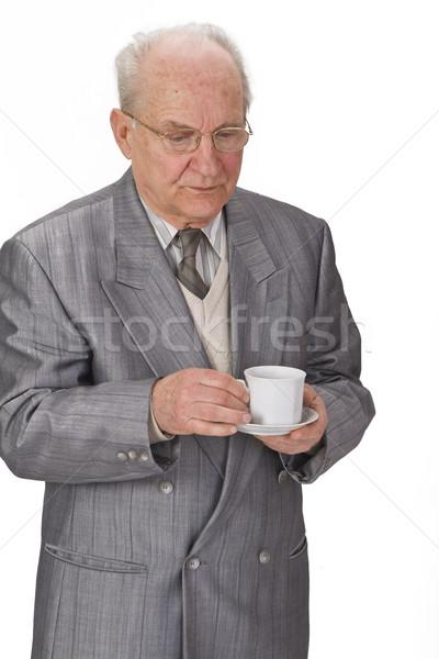 Senior man with tea cup Stock photo © RazvanPhotography
