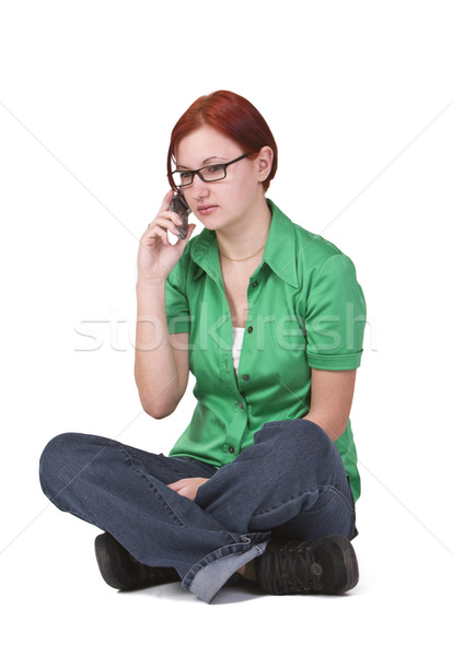 Rossz hírek telefon szomorú fiatal lány nő Stock fotó © RazvanPhotography