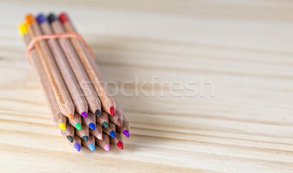 Bundle of Pencils on a Wooden Table Stock photo © RazvanPhotography