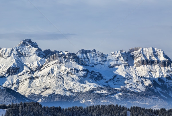 Invierno paisaje hermosa vista nubes Foto stock © RazvanPhotography