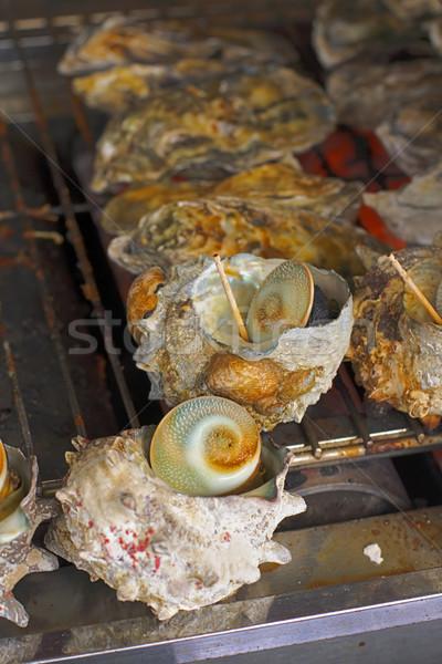 Oyster shells (Kaki) Stock photo © RazvanPhotography