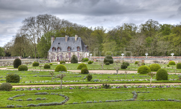 Chancellery from the Diane de Poitiers Garden of Chenonceau Cast Stock photo © RazvanPhotography