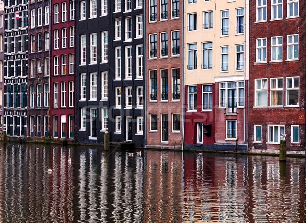 Amsterdam typisch kleurrijk huizen water Stockfoto © RazvanPhotography