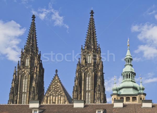 St.Vitus Cathedral towers-Prague Castle Stock photo © RazvanPhotography
