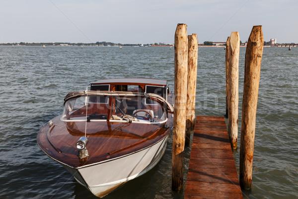 Barco Veneza lancha água táxi Foto stock © RazvanPhotography