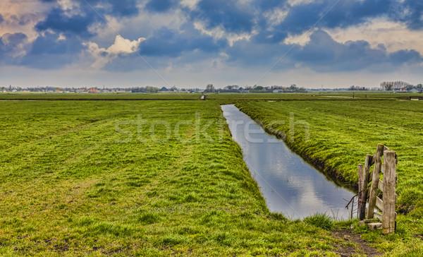 農村 オランダ語 風景 運河 緑 フィールド ストックフォト © RazvanPhotography