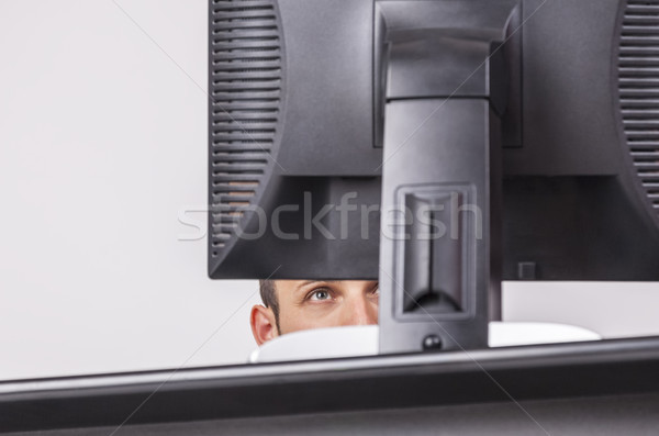 Oog interessant afbeelding jonge man naar Stockfoto © RazvanPhotography