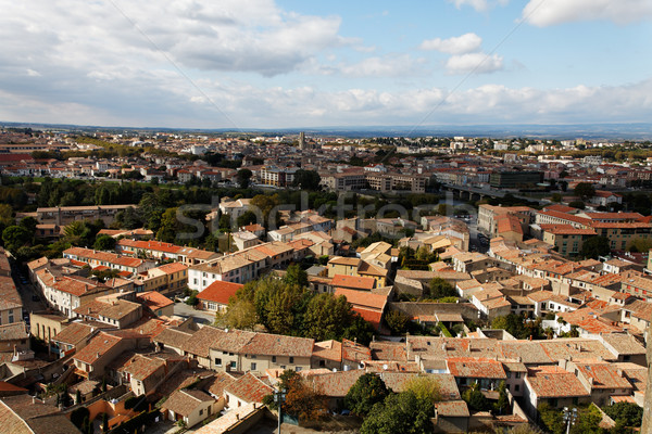 Carcassonne-the base city Stock photo © RazvanPhotography