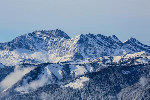 Hiver paysage élevé altitude français alpes Photo stock © RazvanPhotography