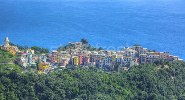 Italia hermosa vista pueblo famoso italiano Foto stock © RazvanPhotography
