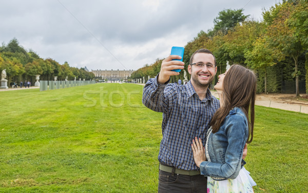 Foto stock: Coupe · toma · aire · libre · jardín · mujer