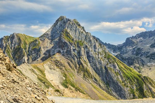 Foto stock: Montanhas · impressionante · céu · nuvens · natureza · fundo