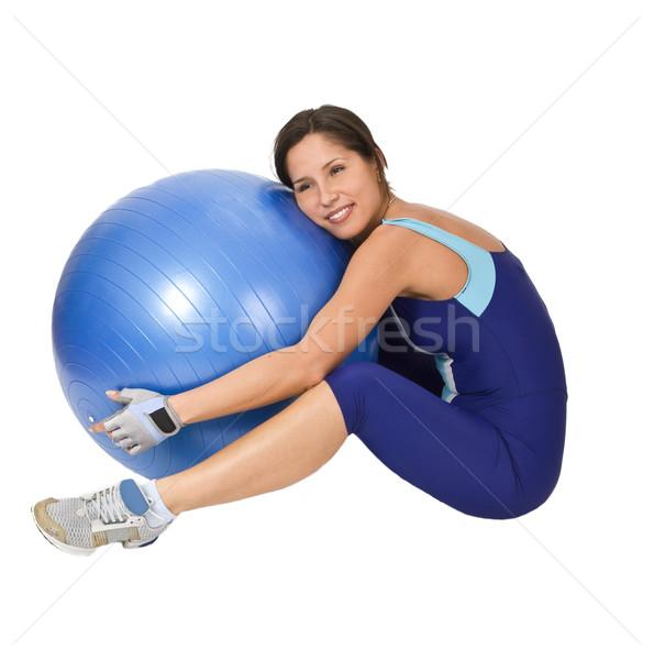 Hugging the gym ball Stock photo © RazvanPhotography