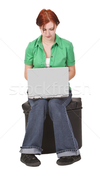 Teenager working on a laptop Stock photo © RazvanPhotography