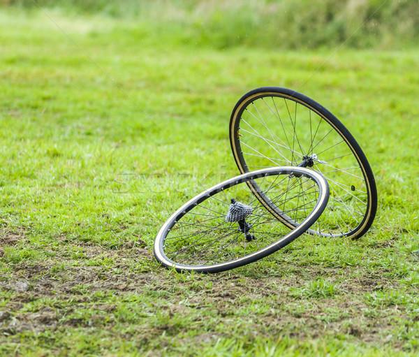 Pary rowerowe koła obraz zielone sportu Zdjęcia stock © RazvanPhotography