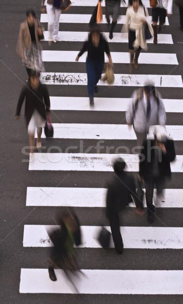 Pessoas rua pessoas do grupo estrada cidade abstrato Foto stock © RazvanPhotography