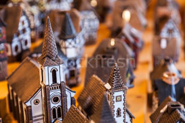 миниатюрный керамической домах рынке стоять путешествия Сток-фото © RazvanPhotography