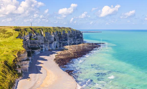 Normandia la spiaggia costa basso Foto d'archivio © RazvanPhotography