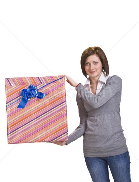 Woman with a gift box Stock photo © RazvanPhotography