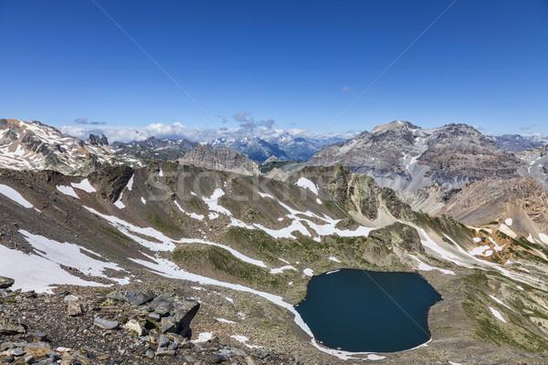 Lac Blanc from Vallee de la Claree, France Stock photo © RazvanPhotography