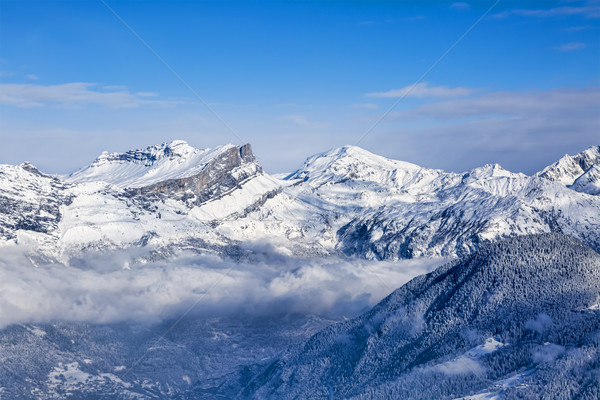 Mountain Peaks Above the Clouds Stock photo © RazvanPhotography