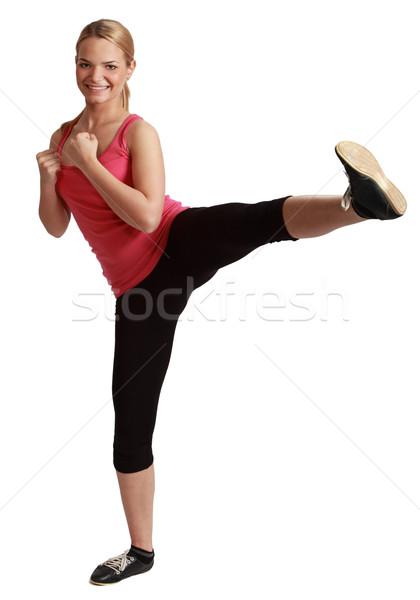 Giovani donna kickboxing donna bionda bianco ragazza Foto d'archivio © RazvanPhotography