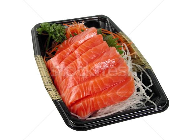 Somon sashimi kutu yalıtılmış beyaz Stok fotoğraf © RazvanPhotography