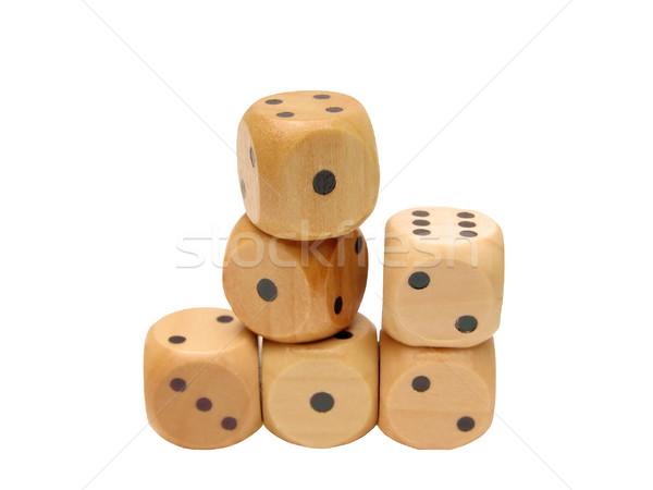 Vezető pozició kocka egyezség absztrakt számok Stock fotó © RazvanPhotography