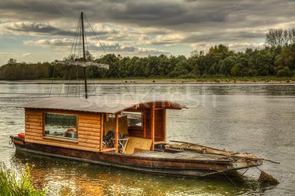 Wooden Boat on Loire Valley Stock photo © RazvanPhotography