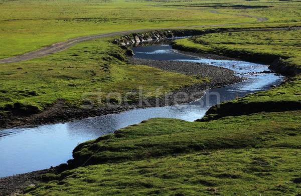 緑 高原 美しい 川 谷 水 ストックフォト © RazvanPhotography