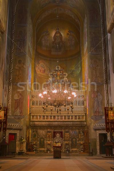Foto stock: Ortodoxo · catedral · interior · imagen · construcción · viaje