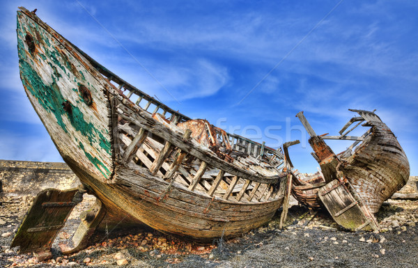 Navios vazio costa céu madeira Foto stock © RazvanPhotography