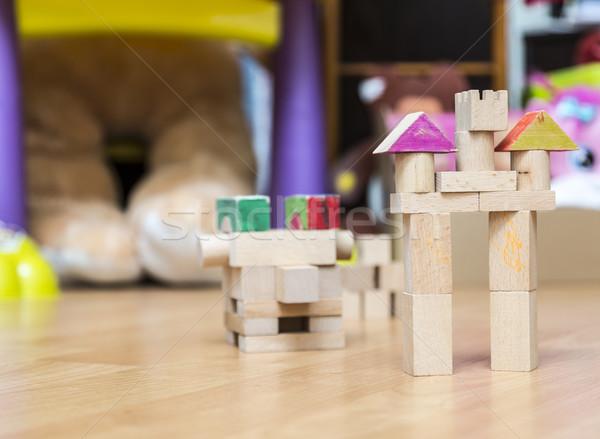Construction image château bois pièces enfants Photo stock © RazvanPhotography