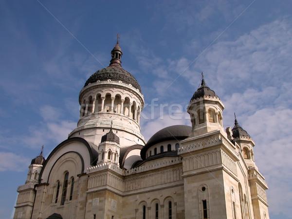 Ortodox katedrális tornyok égbolt építkezés építészet Stock fotó © RazvanPhotography