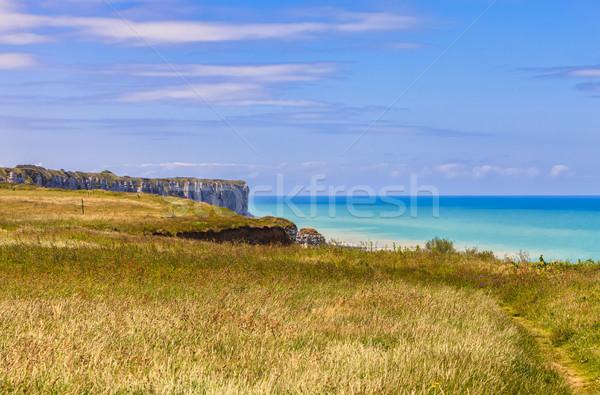 Tájkép Normandia part gyönyörű zárt észak Stock fotó © RazvanPhotography