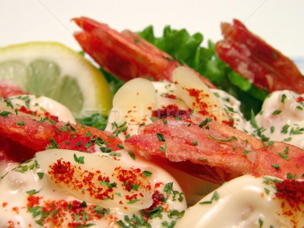 Shrimp with mayonnaise Stock photo © RazvanPhotography